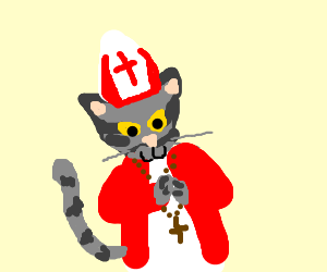Pope tabby cat the 3rd.