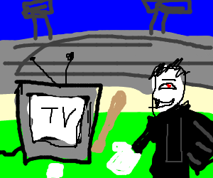 Cable tv Vs. Vampires: a baseball match