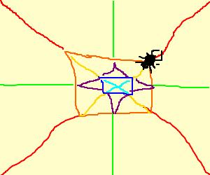 multicolor spider's web