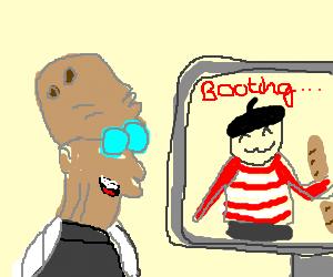 Professor Farnsworth boots a Frenchman