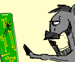Horse surveys shoddy circuit board