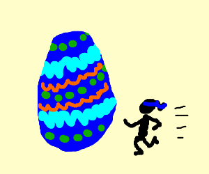 Mini Ninja vs Easter Egg