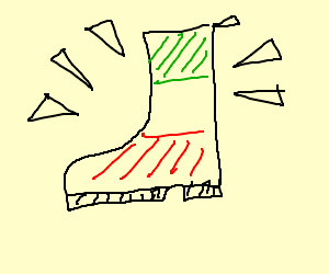 Boot Colored like Italy flag