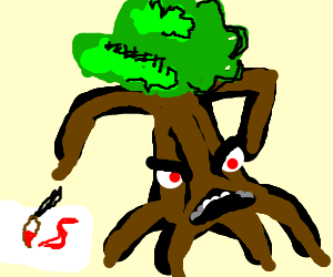 Treant not very good at arts and crafts.