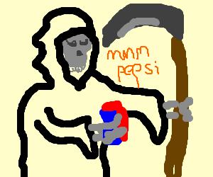Grim reaper sponsors Pepsi