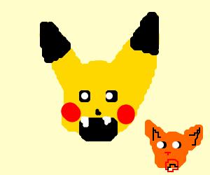 pikachu eats cats