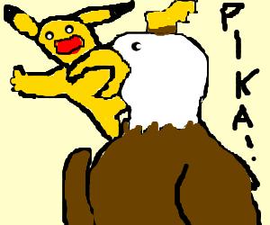 Bird of prey snatches Pikachu