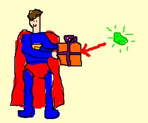 Superman gets cryptic kryptonite present
