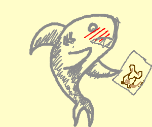 shark is amazed by porn leaflet