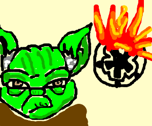 Yoda blows up Imperial Igloo
