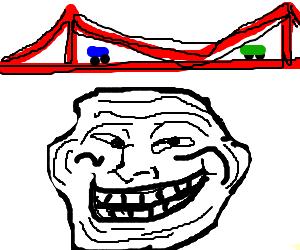 Troll under a bridge