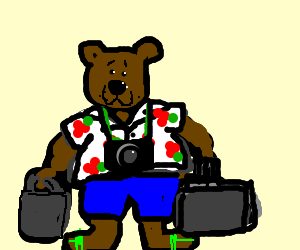 Horace the Endless Bear goes on vacation