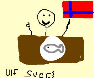 Norwegian Man enjoying some nice Cod