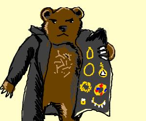 Suspicious bear bears many gifts