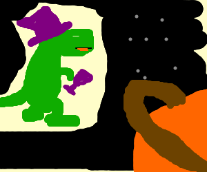 Dinosaur Pimps In Space