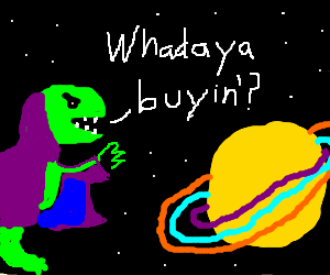Raptor salesmen sells stuff to saturn