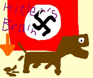 dog under national socialist flag