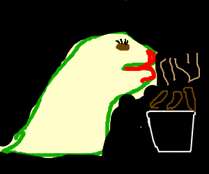 Dino knight eating woman