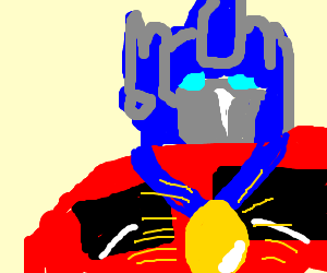 optimus prime wins the golden egg medal