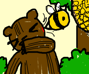 the bee that stung the bear in the face