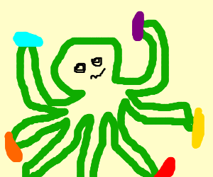 Octopus's dancing at a rave!