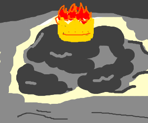 Night cloud with a flaming crown