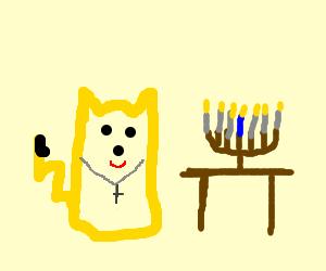 Christian Pikachu celebrates Hanukkah
