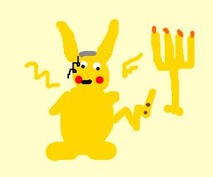 pikachu celebrating Hanukkah
