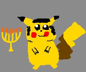 Rabbi Pikachu celebrates Hanukkah