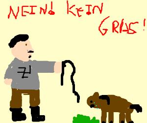 nazi mistreating a horse