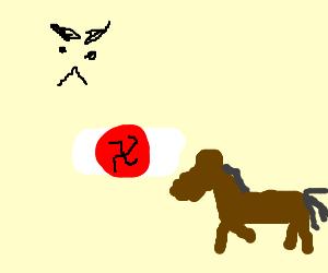 Angry Nazi horse.