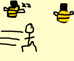 bees buzz for sterotypical olypic runner