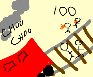 Horrible train accident  Hundreds dead  - Drawception