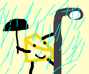 cheese dancing in the rain