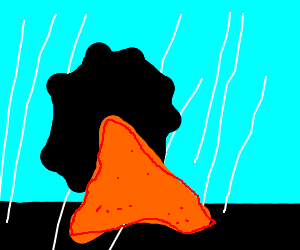 Nacho Dorito Singing in the rain