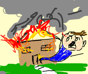 Reed Richards escaping a burning house