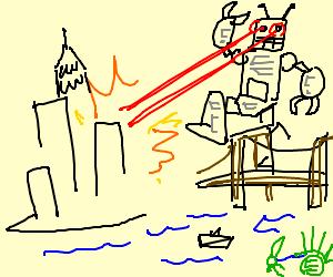 Robot destroys Manhattan