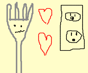 fork falls in love with a socket