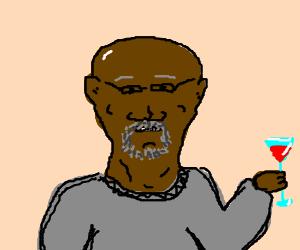 Samuel L. Jackson drinking a cosmopolita