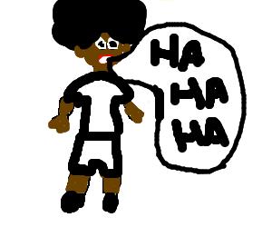 nigga with white clotches laughin'