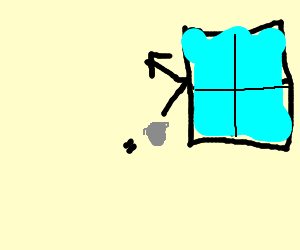 A rock hitting a window