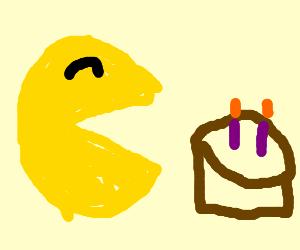 Pacman eating cake