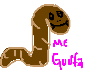 "Brown Derp Worm proclaims, ""ME GUSTA"""