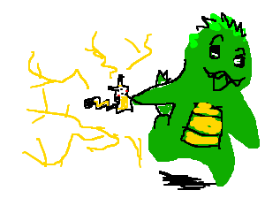 Godzilla and pikachu play together
