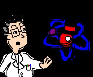 Surprised scientist and a gentleman molecule