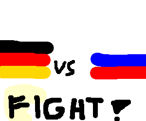 GERMANY VS. RUSSIA: FIGHT!