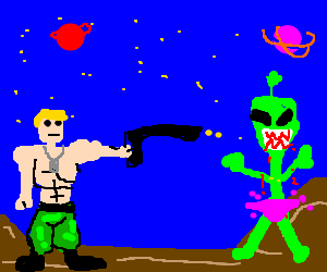 Navy Seal shoots Angry Alien
