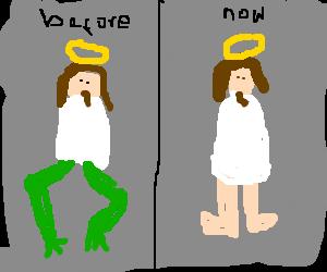 Jesus had ordert frog legs
