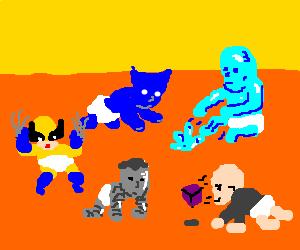X-men as babies