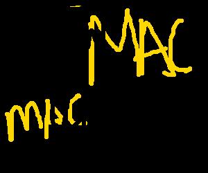 Little Mac eating a Big Mac